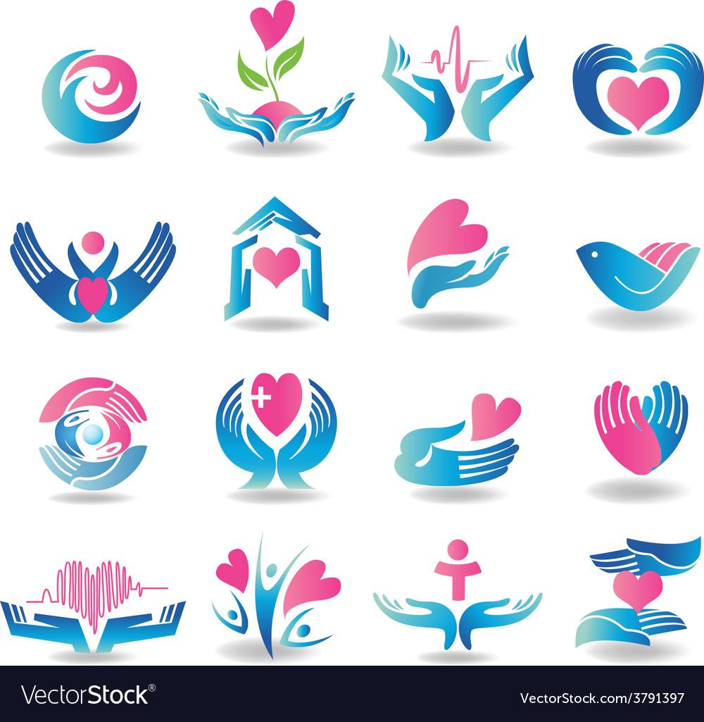 Health care design elements vector