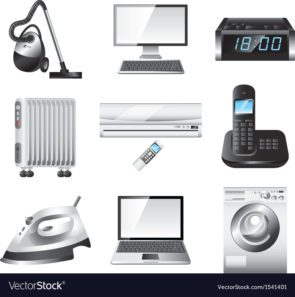 Icons technic home vector