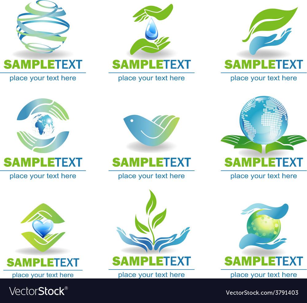 Eco design elements vector