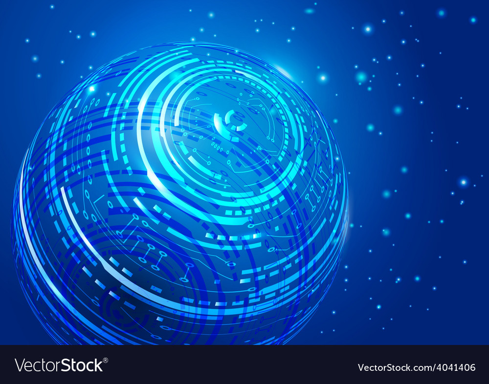 Technology space background vector