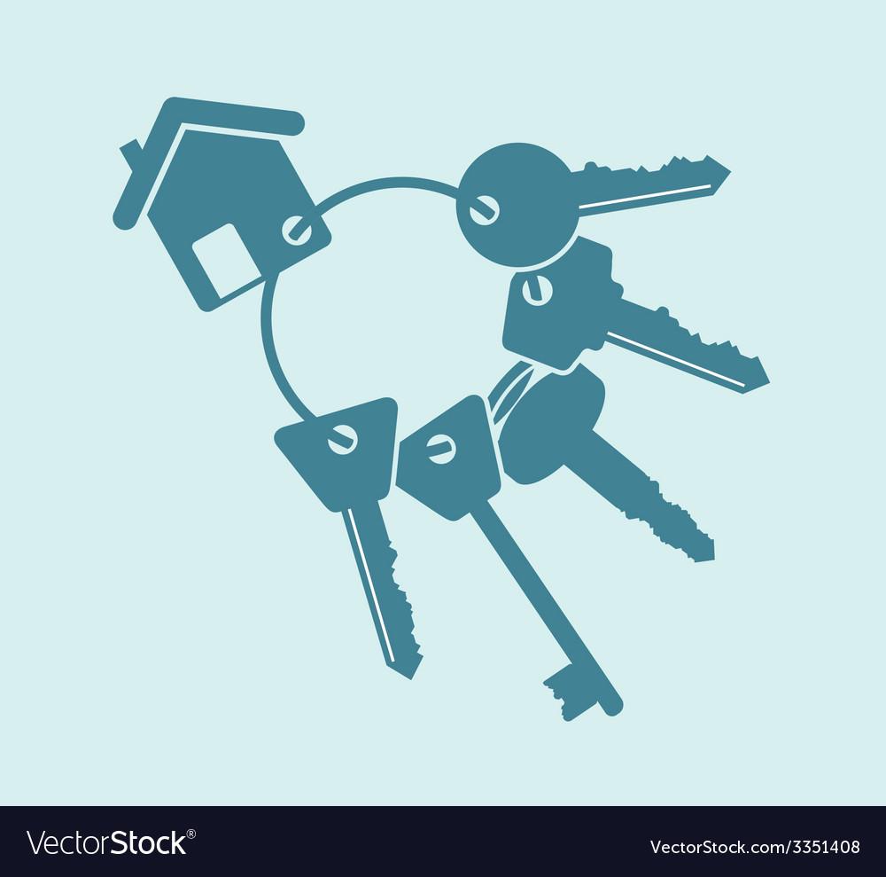 House keys bunch vector