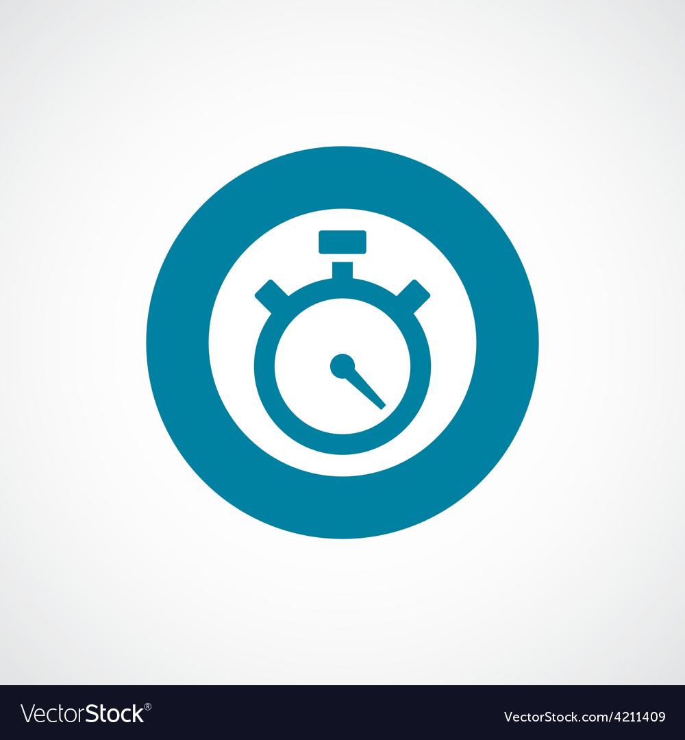 Timer icon bold blue circle border vector