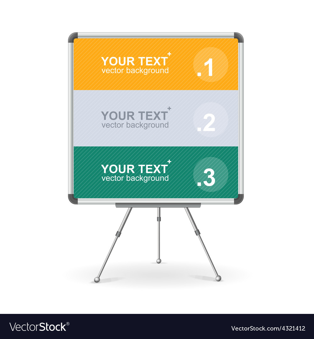 Colorful board option banner vector