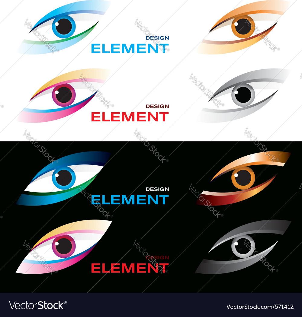 Logo striking eye vector