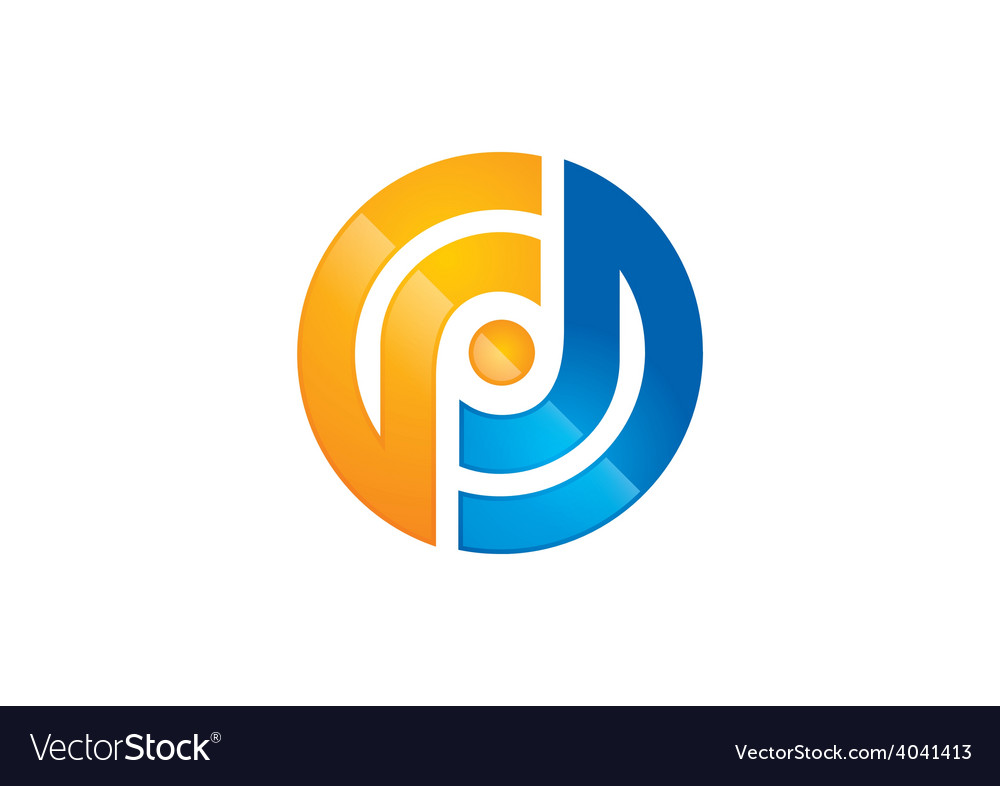 Abstract round target business logo vector
