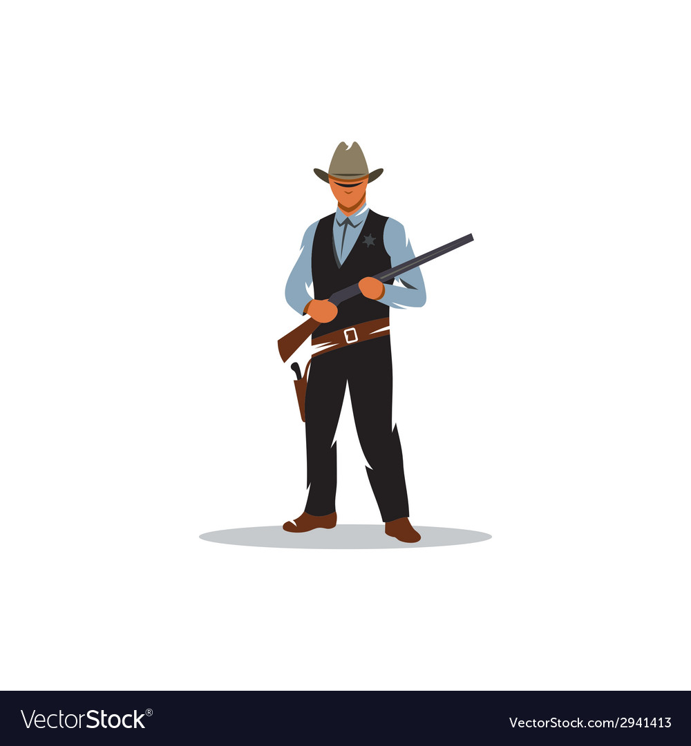 Sheriff sign vector