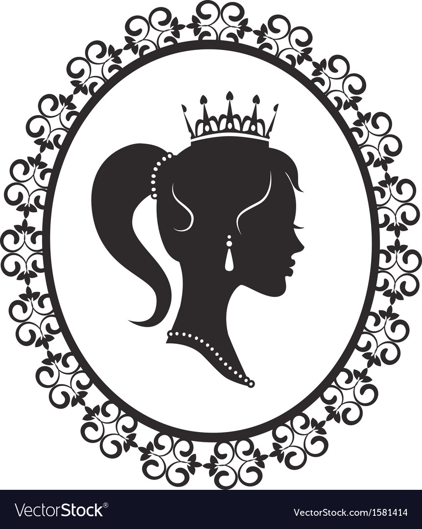 Princess in the frame vector