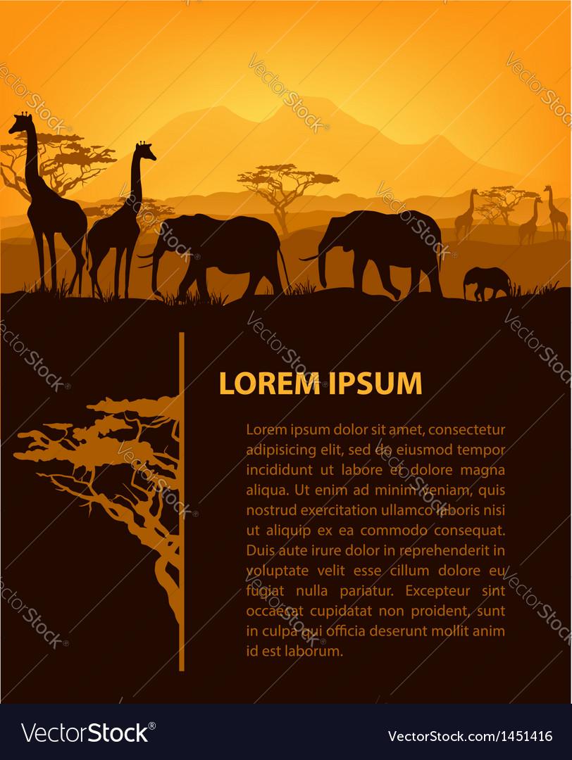 African design template vector