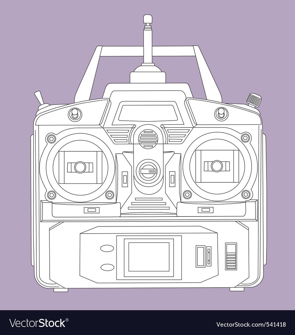 Radio remote control unit vector