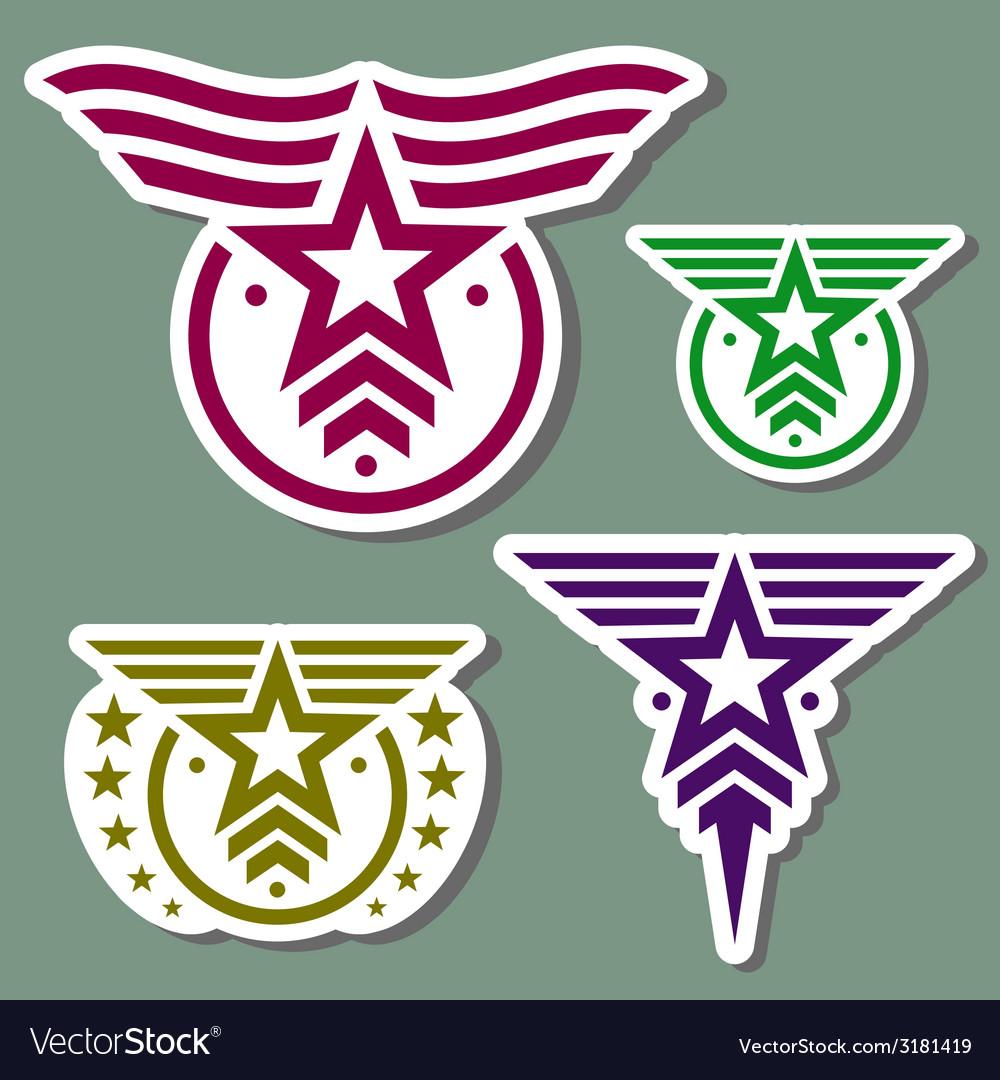 Military style logo set vector