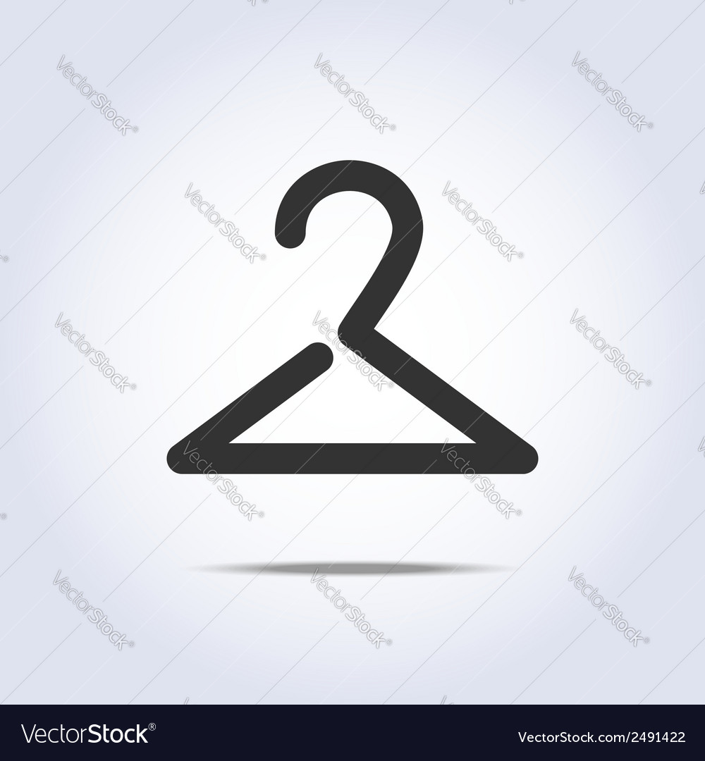 Hanger icon in vector