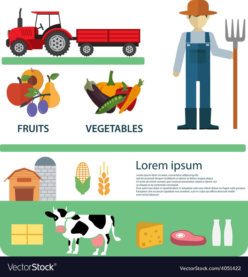 Organic clean foods good health template design vector