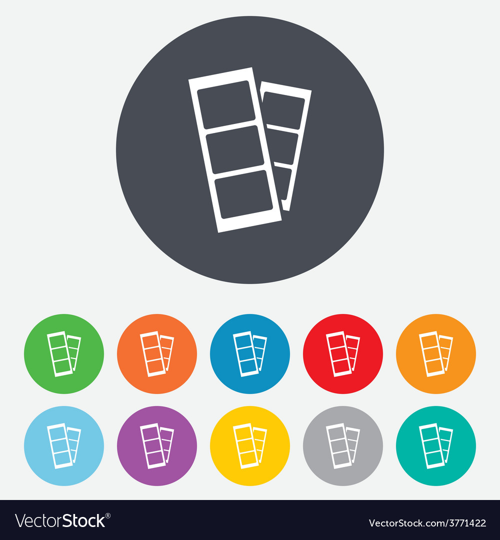 Photo booth strips sign icon vector