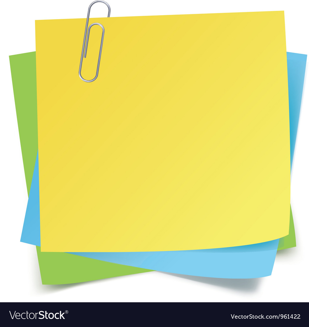 Sticker notes and clip vector