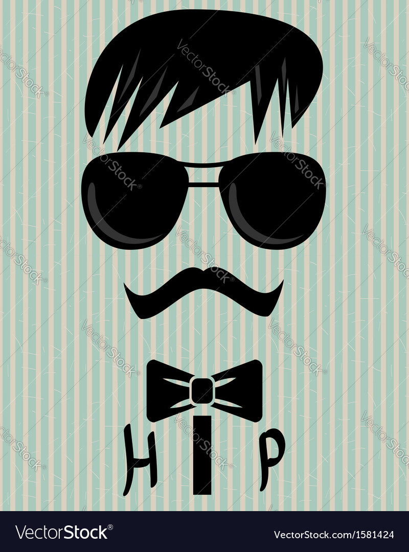To be hip vector