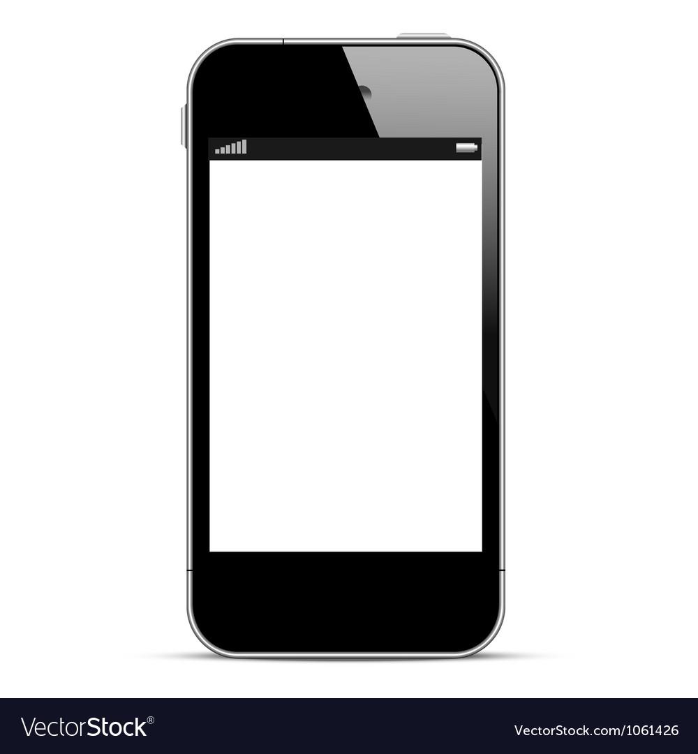 Black smartphone vector