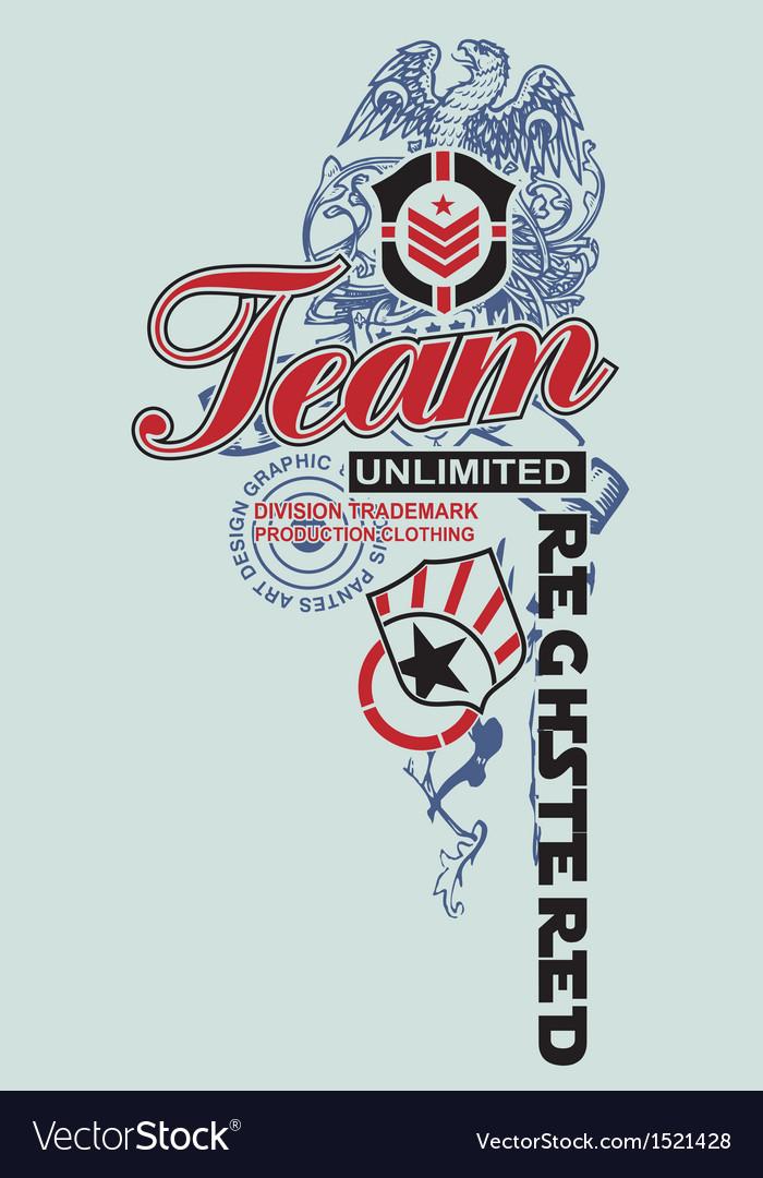 Art design model unlimited team vector