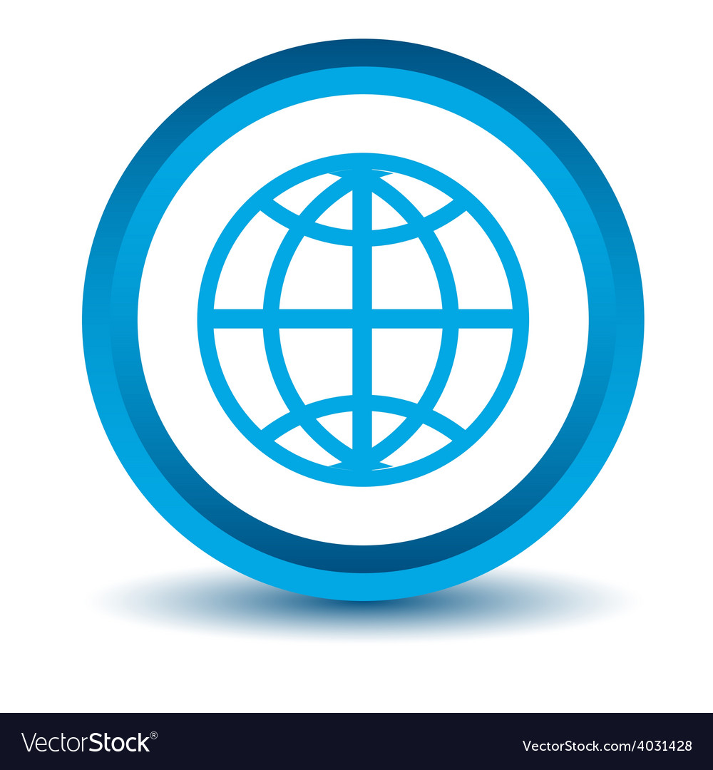 Blue world icon vector