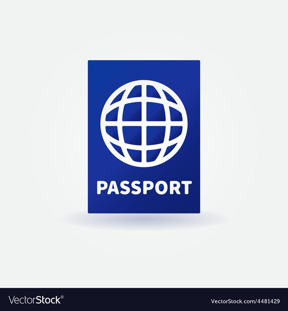 Passport blue sign vector