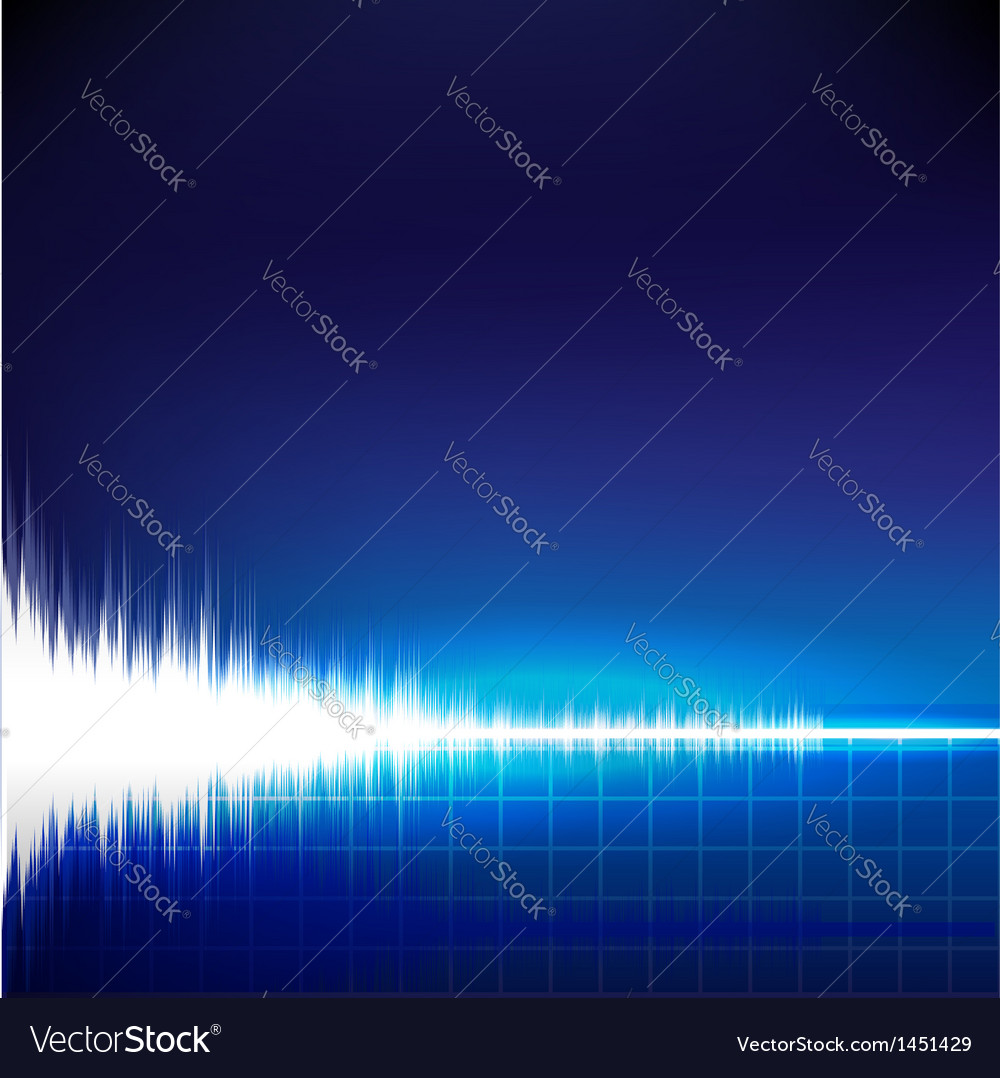 Sound wave abstract background vector