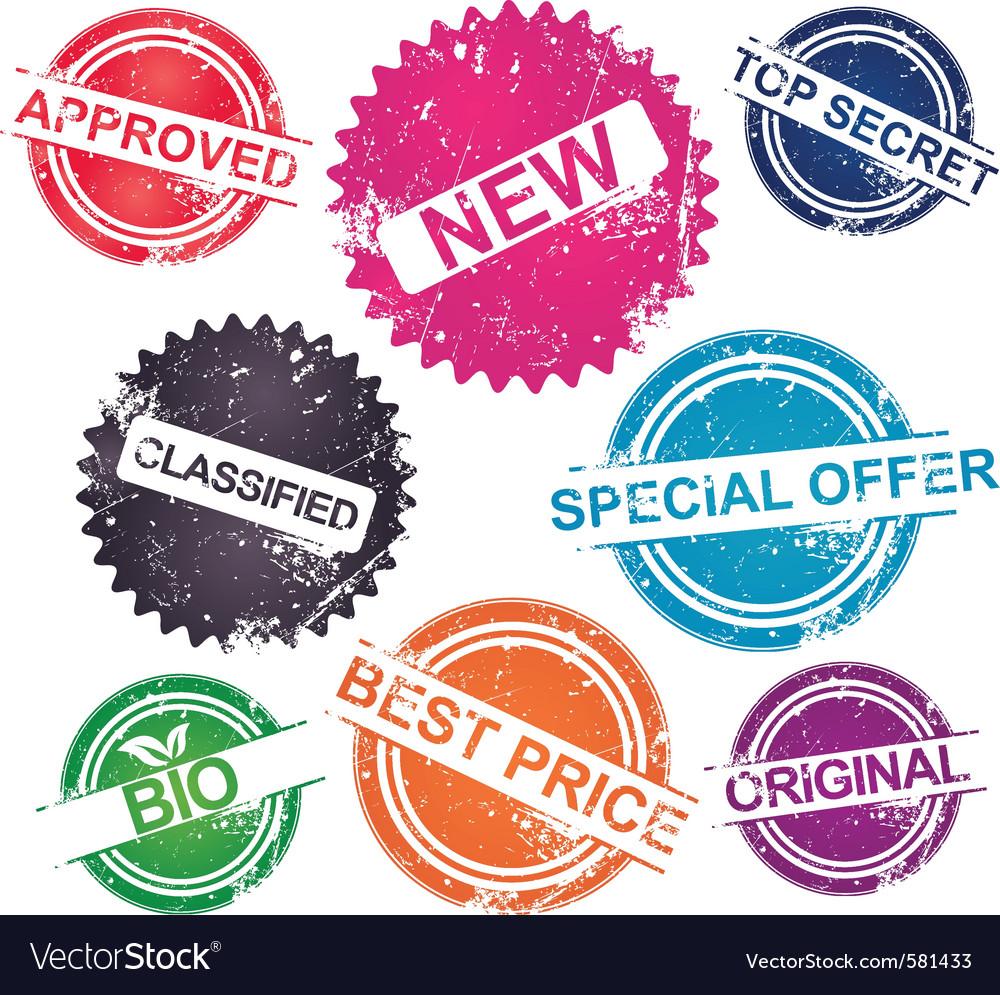 Grunge stamps vector