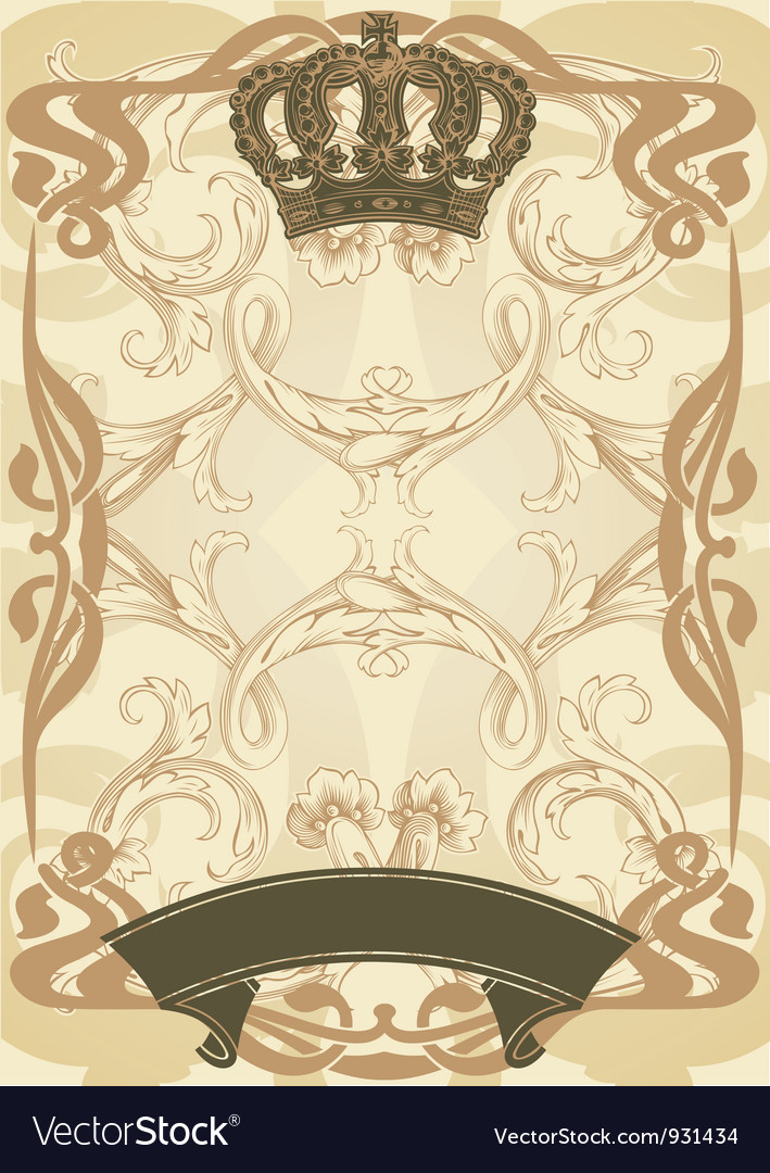 Royal background and banner vector