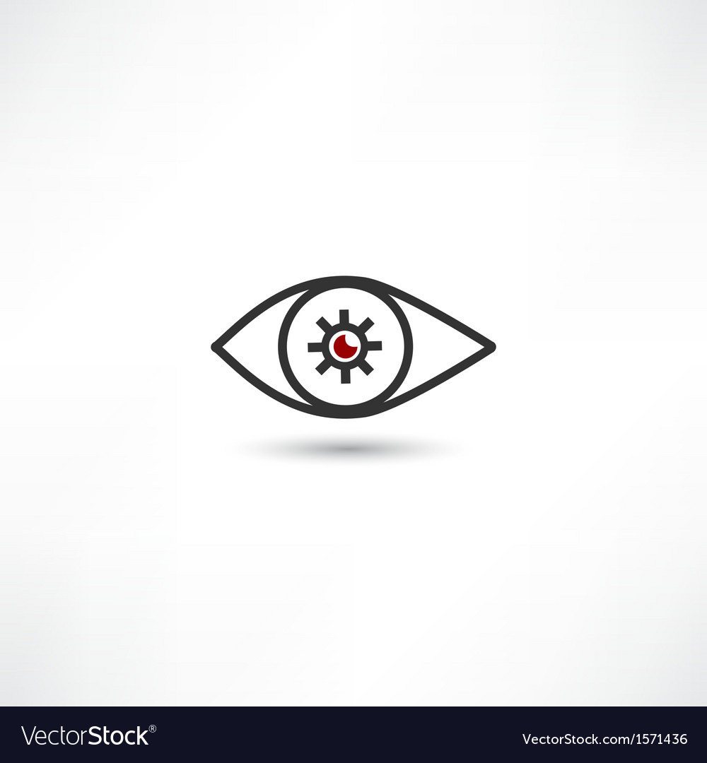 Eye icon vector