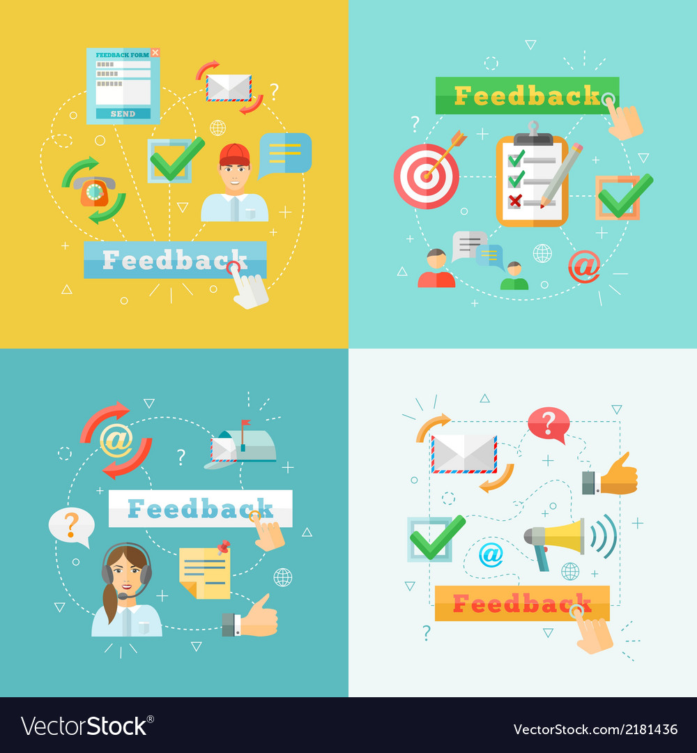 Feedback-web-infographic-elements-set-vector