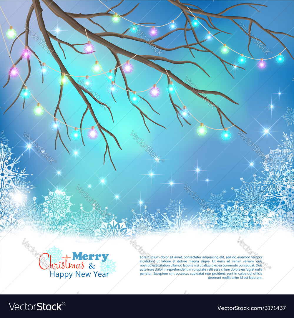 Christmas light bulbs background vector