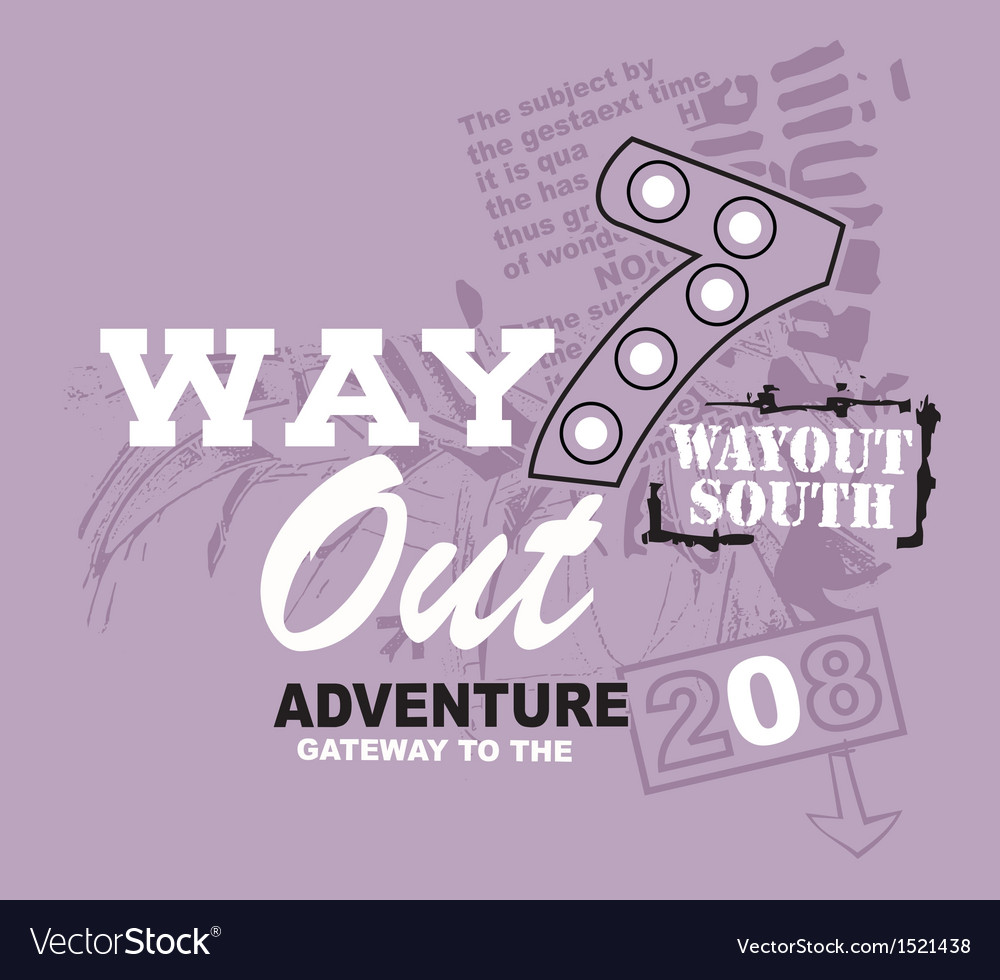 Art design with a model way out vector