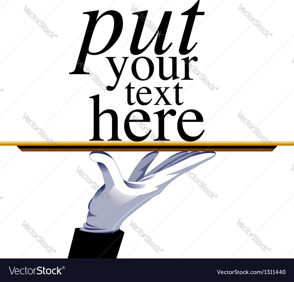 Waiter with place for text vector