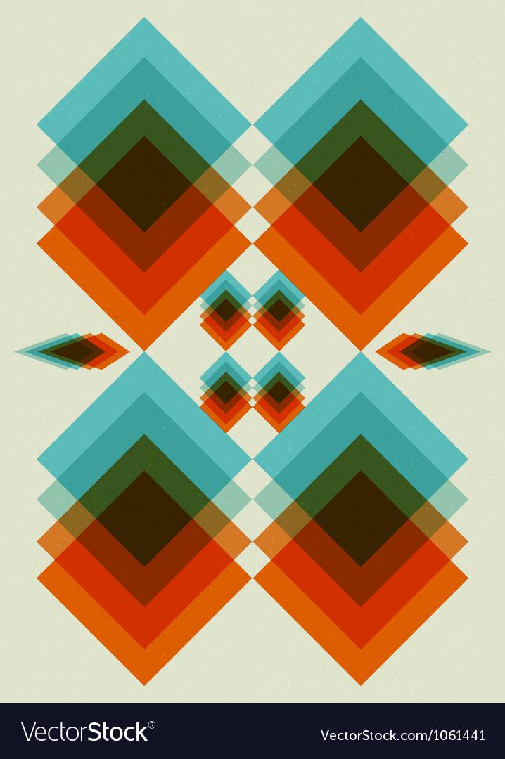 Retro pattern book cover background design vector