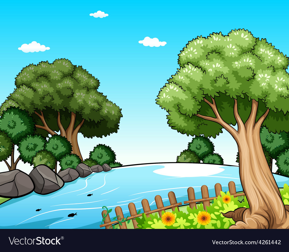 Beautiful scenery vector