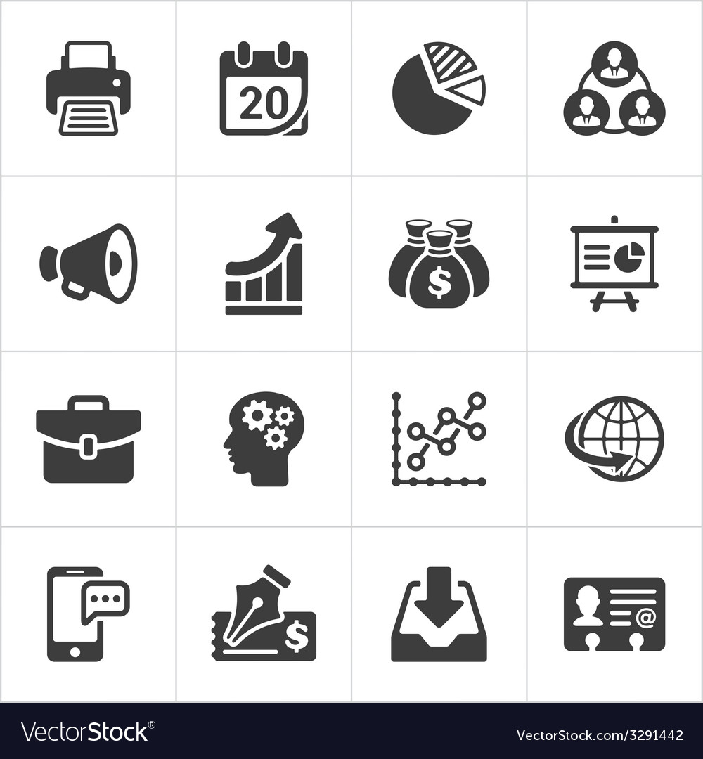 Trendy business and economics icons set 2 vector