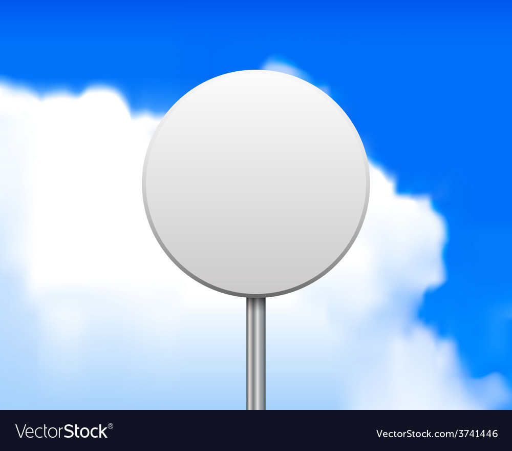 Blank round road sign vector