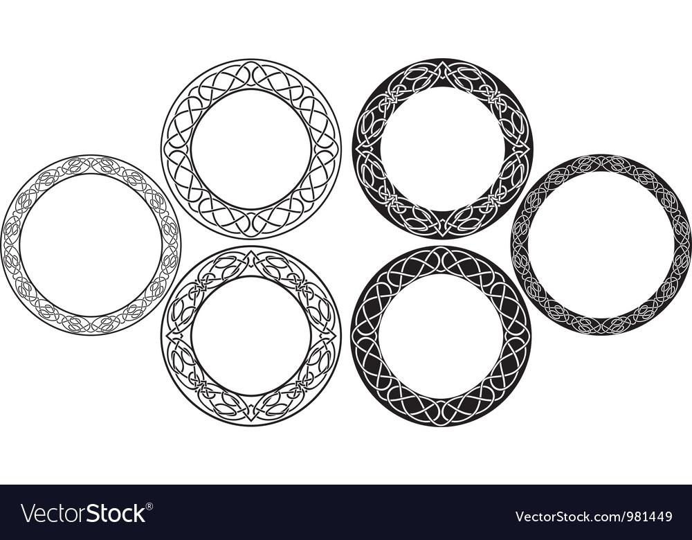 Celtic circle vector