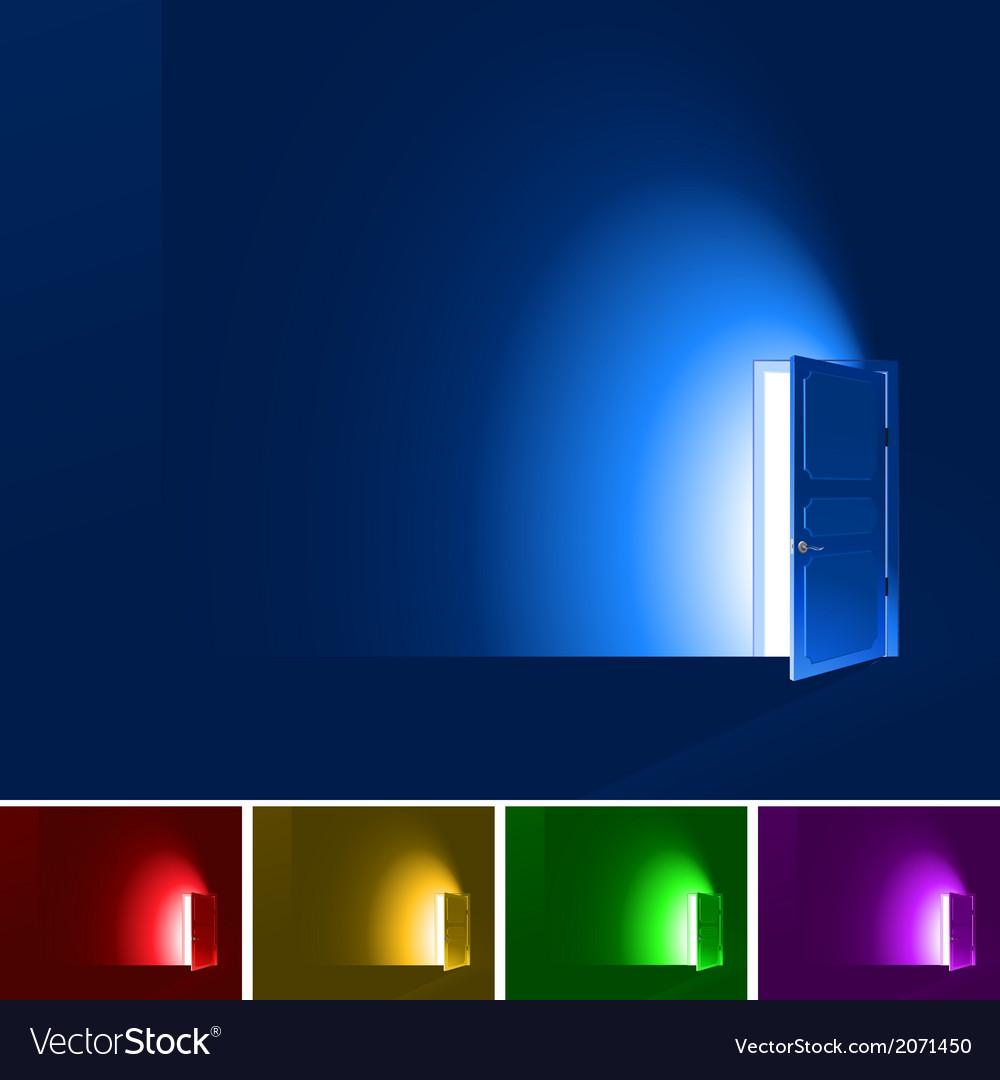 Light through a door vector