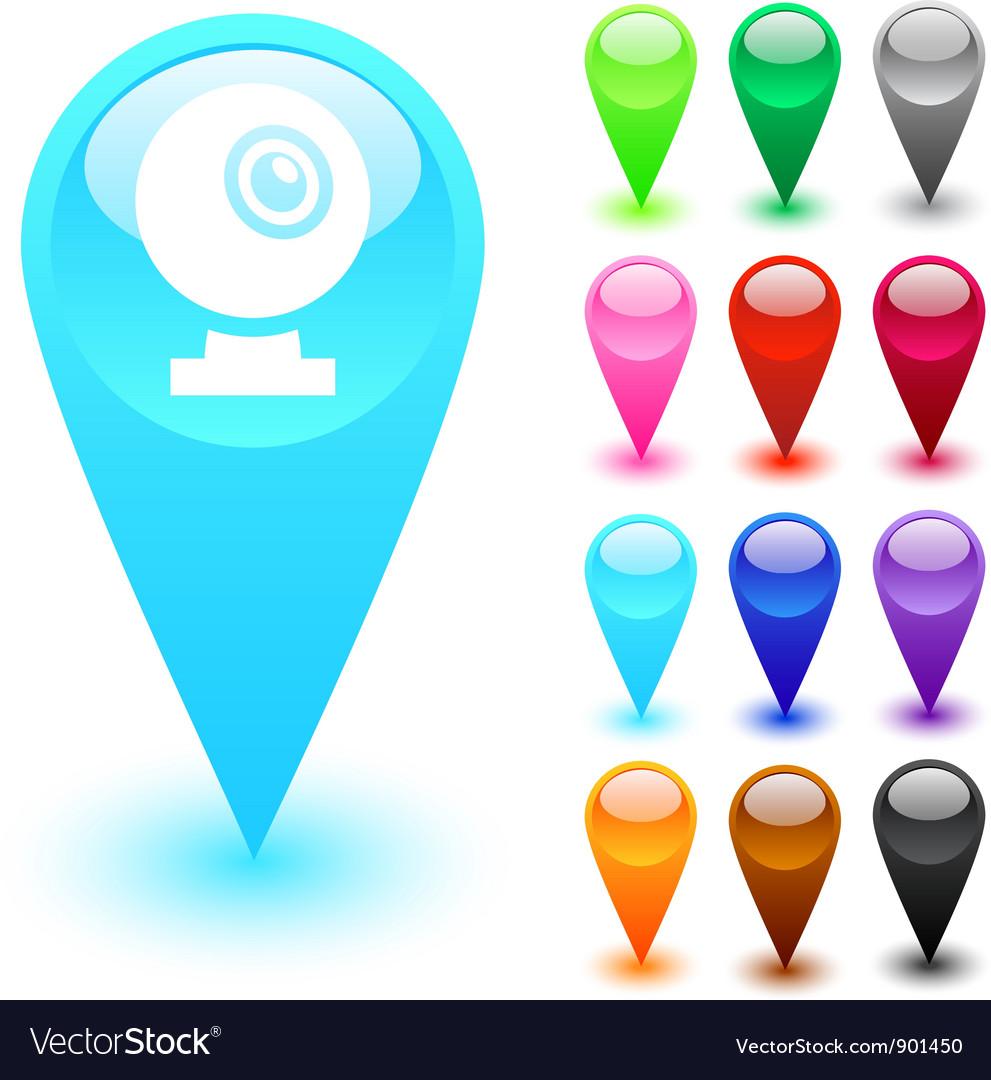 Webcam button vector