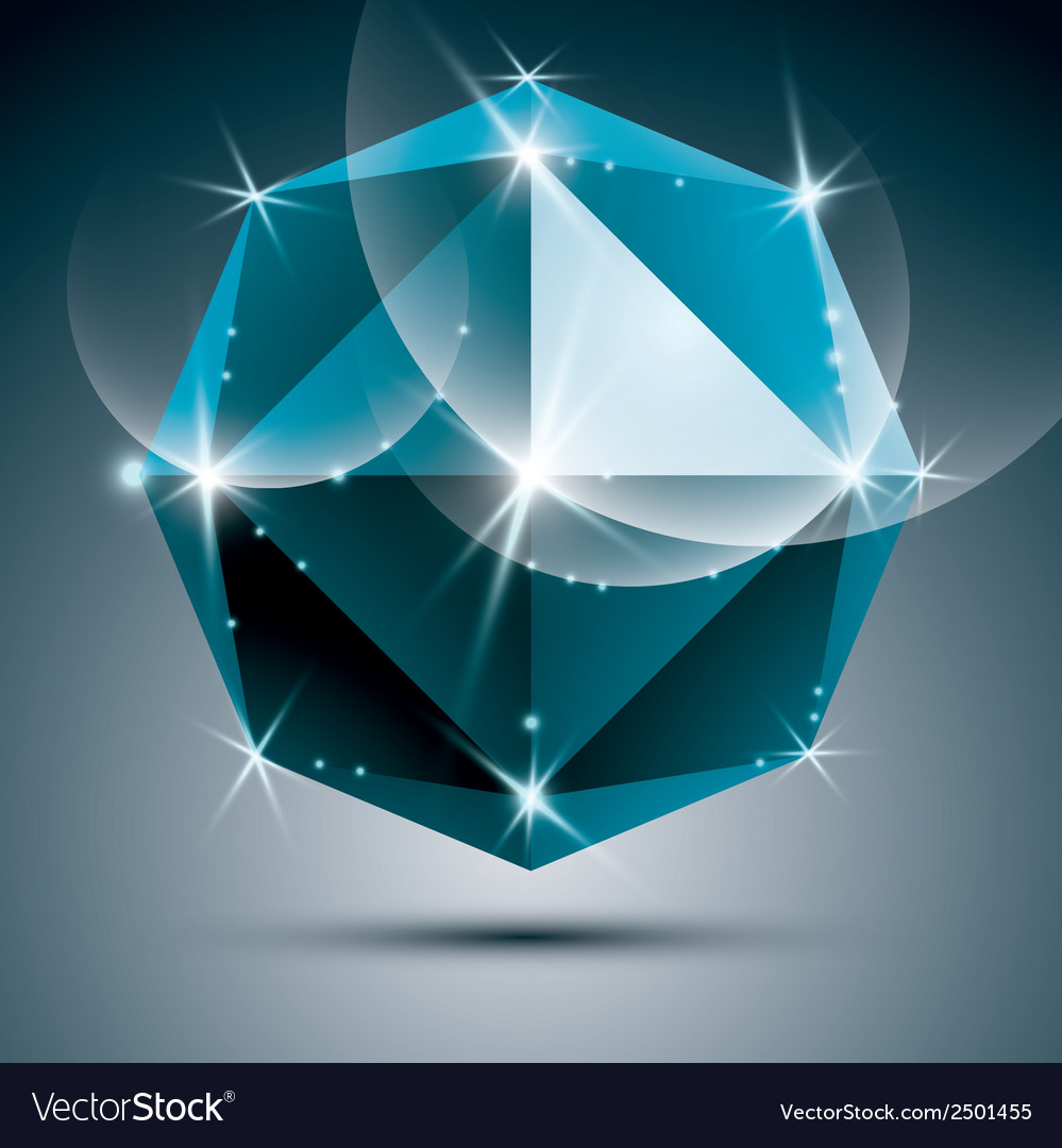 Stylish shiny sapphire effect eps10 party vector