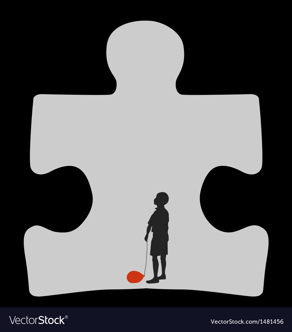 Autism cave vector