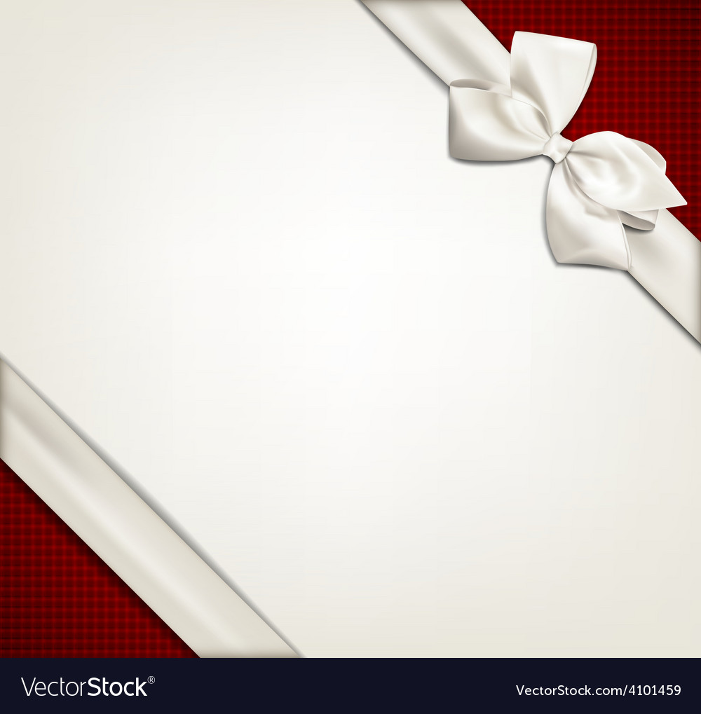 Gift card with white bow vector