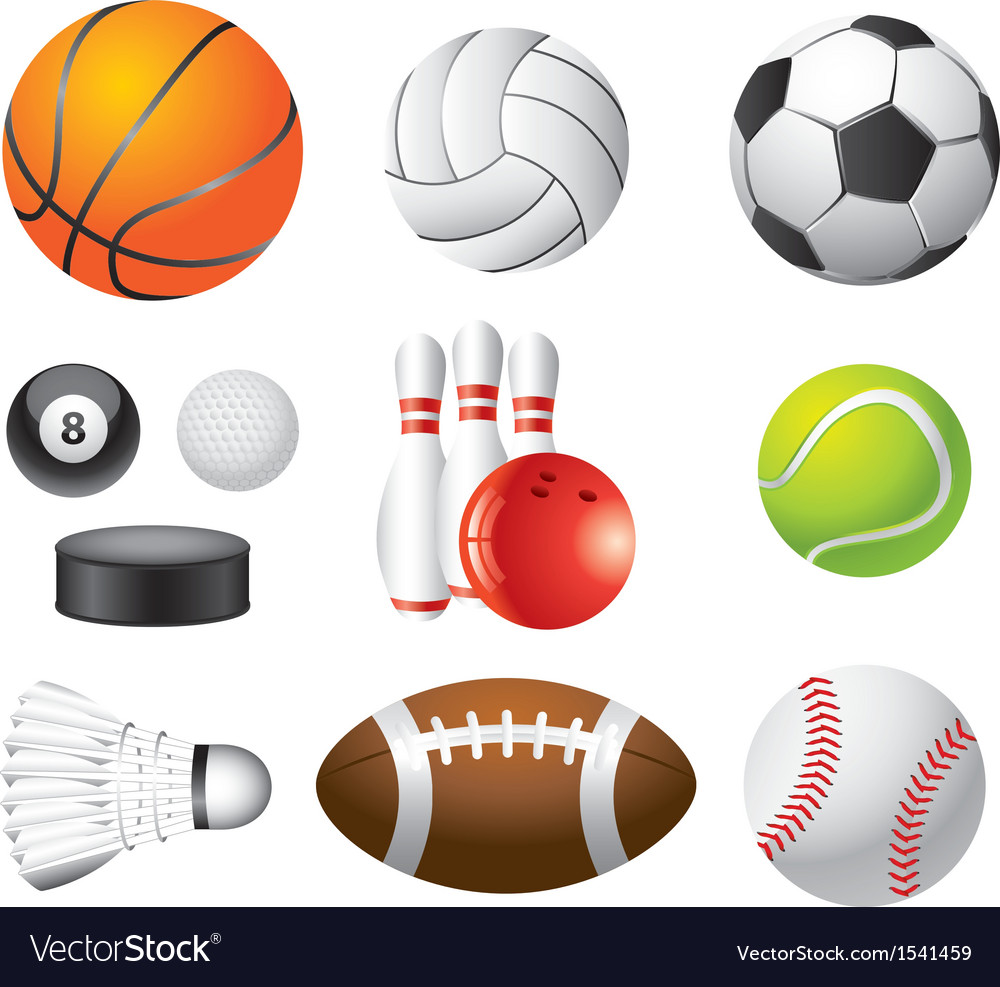 Sport balls set vector