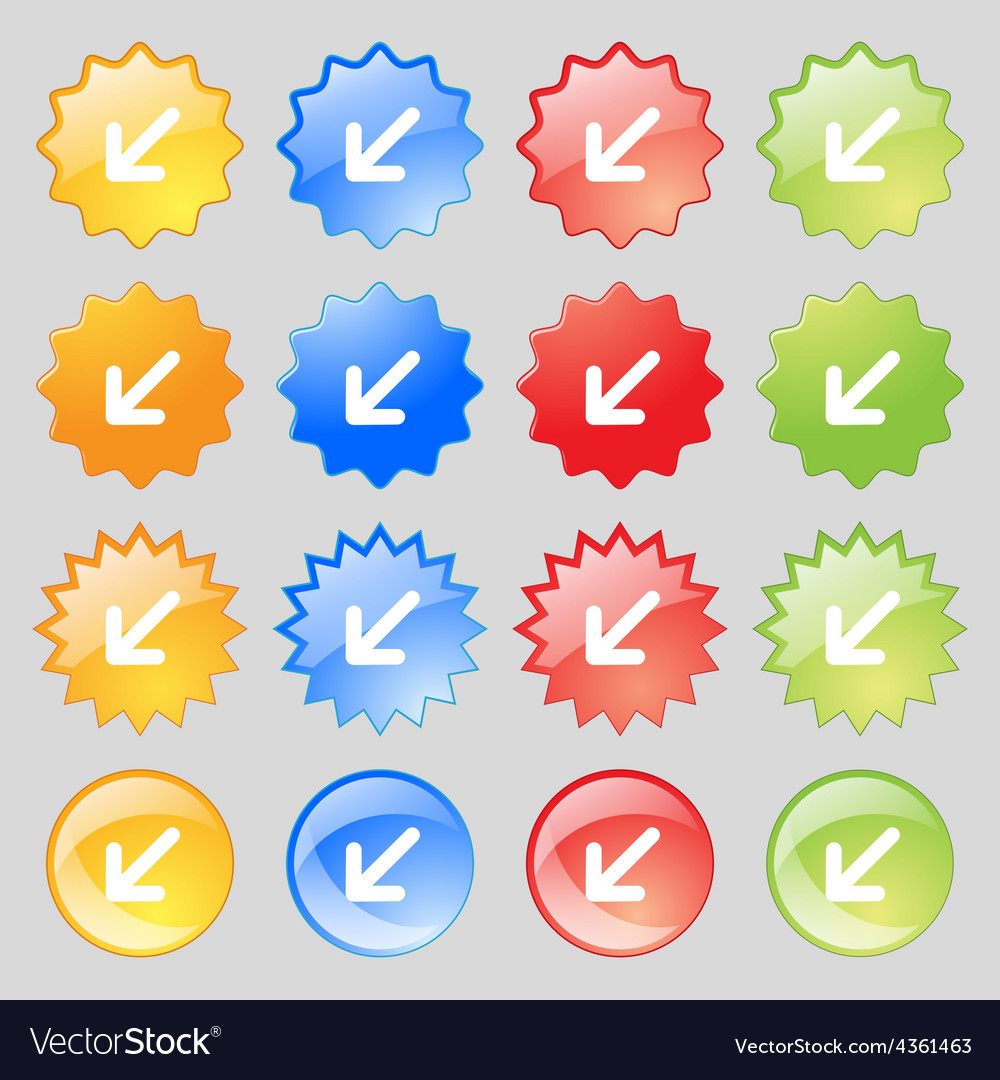 Turn to full screenicon sign big set of 16 vector