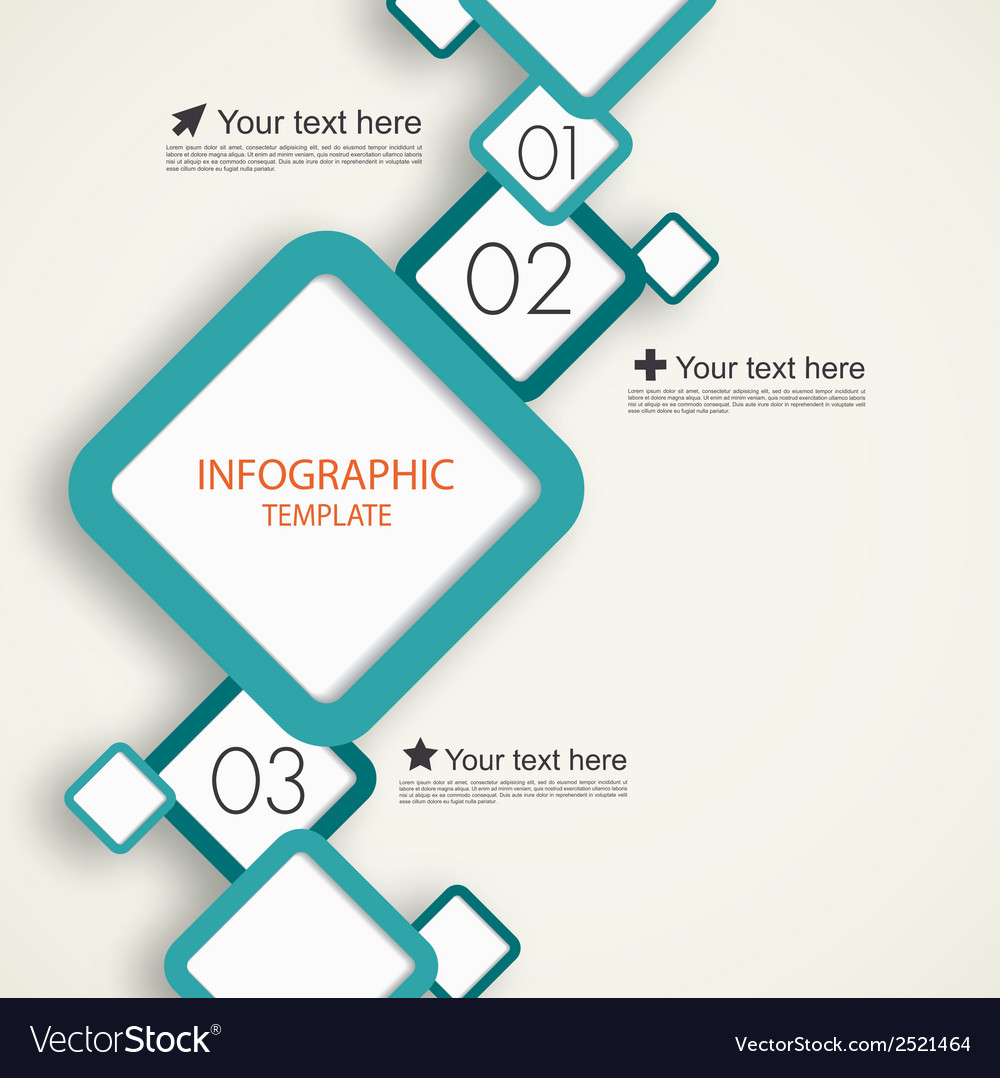 Infographic template with squares vector