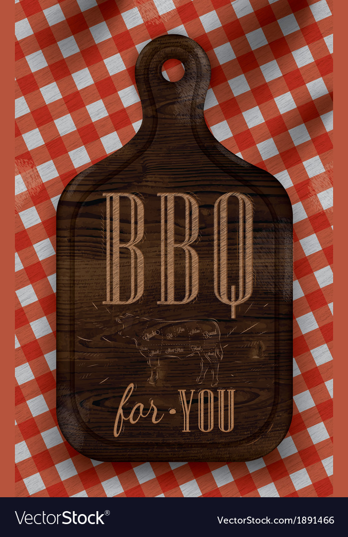 Bread cutting bbq red vector