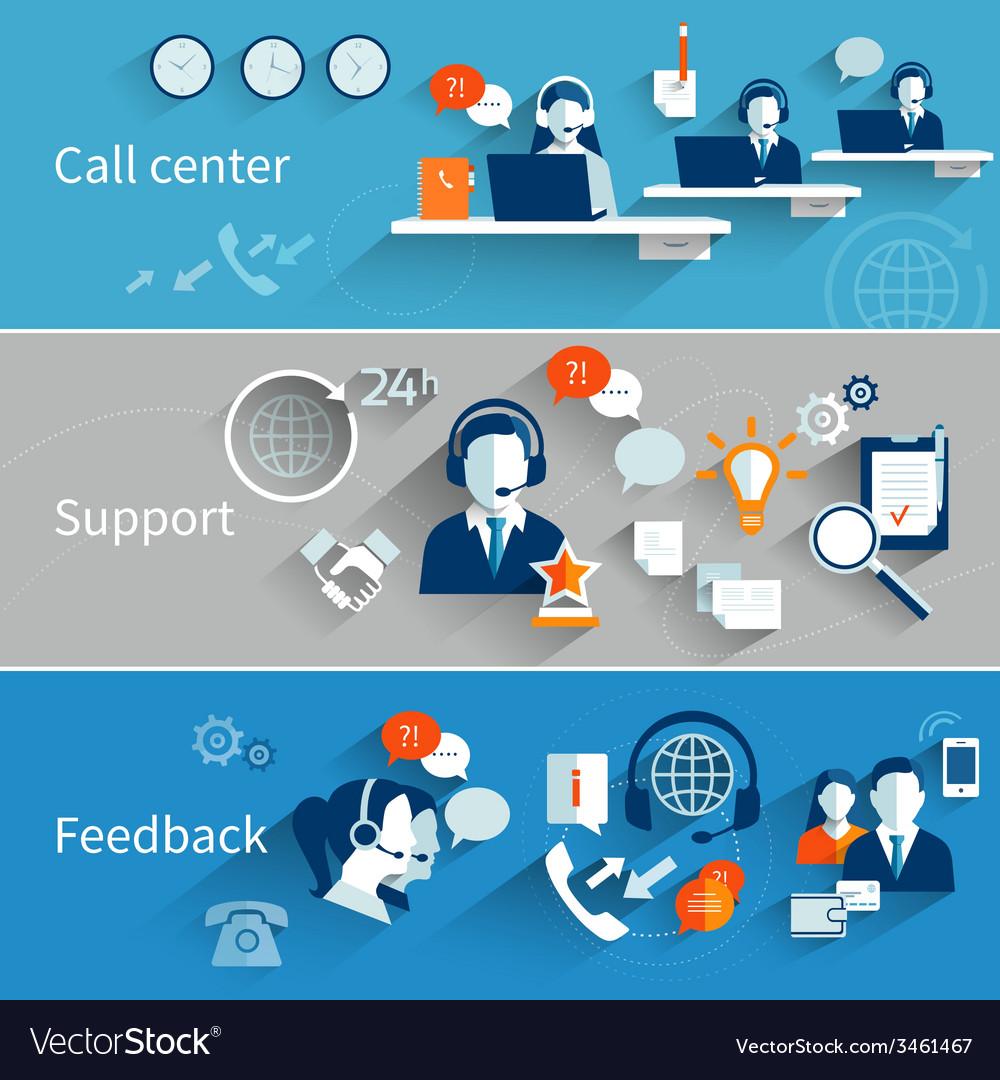 Customer service banners vector
