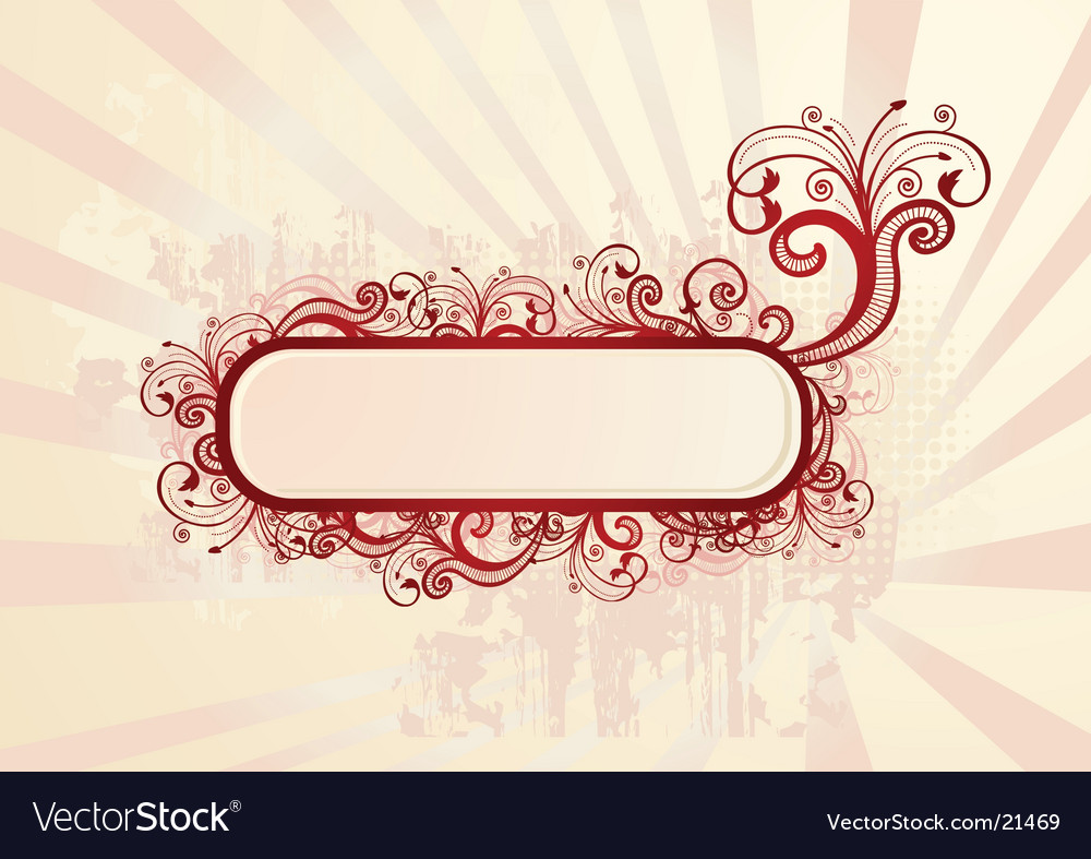 Floral wallpaper with copy-space vector