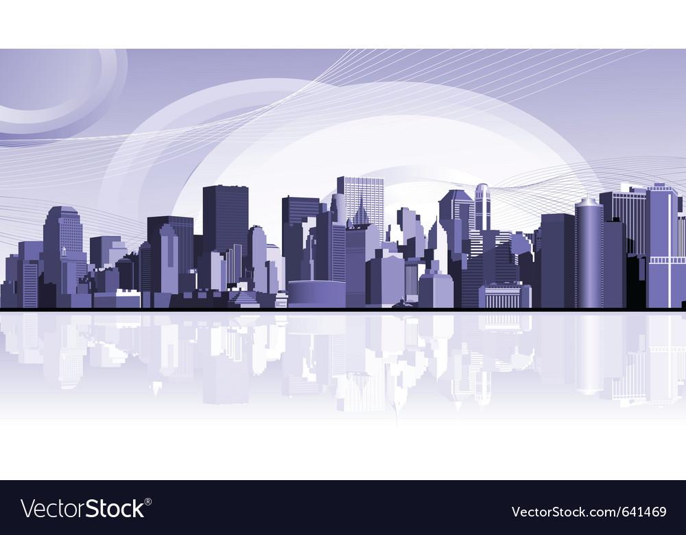 Urban city background vector