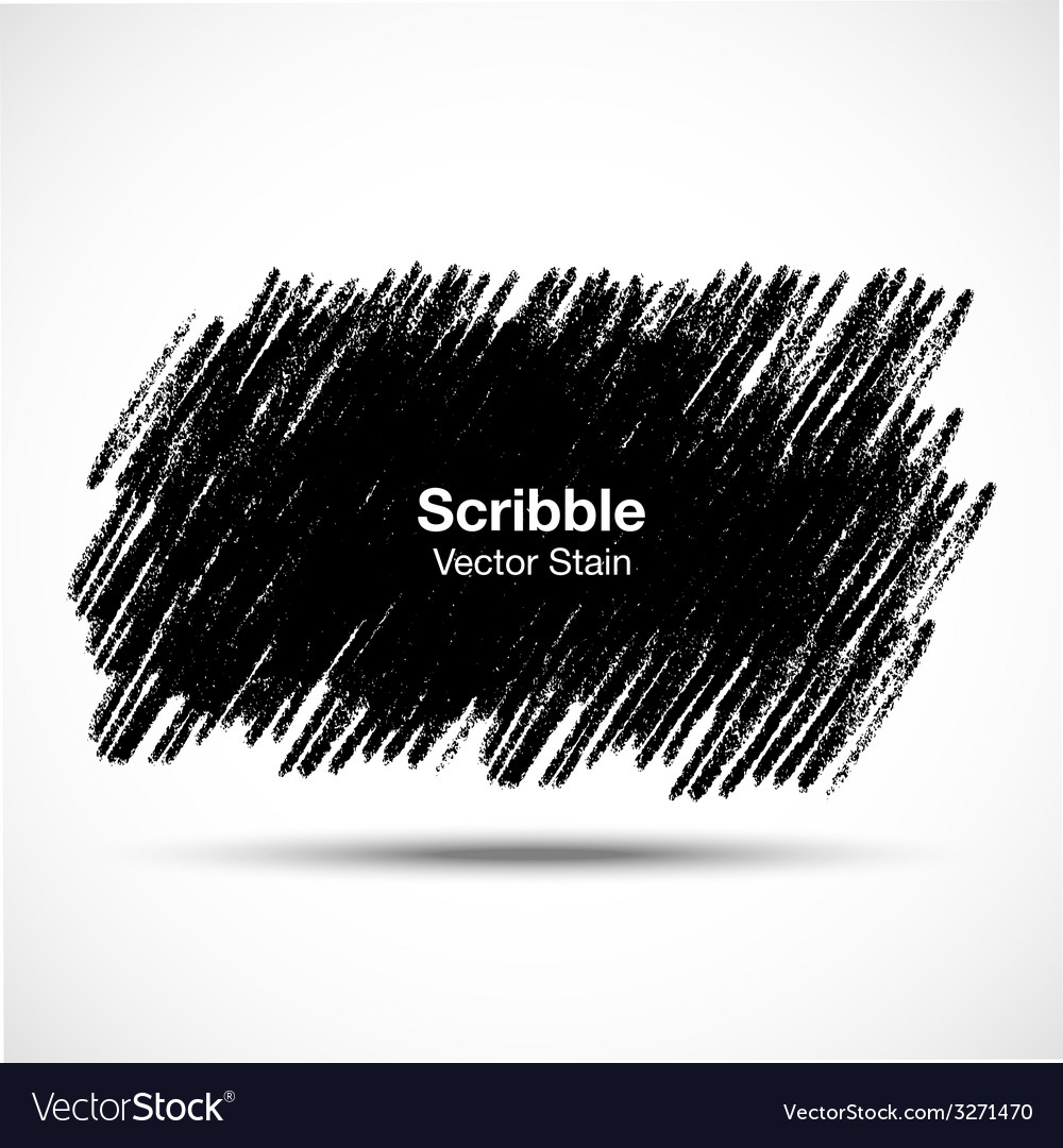 Scribble stain hand drawn in pencil logo design e vector