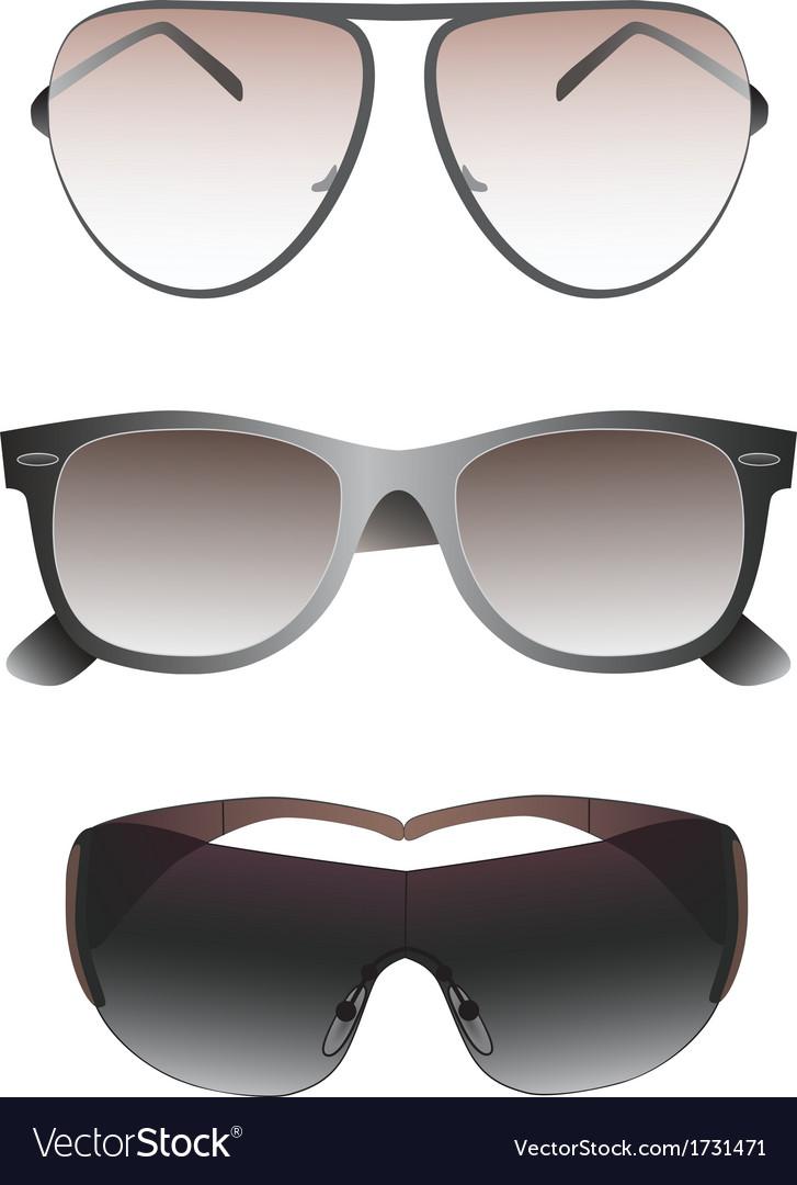 Sunglasses set for men vector